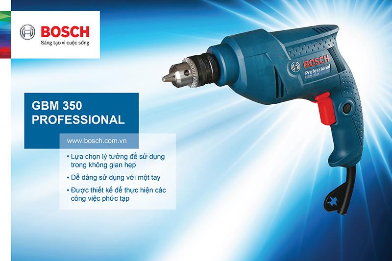 Máy khoan sắt Bosch GBM 350