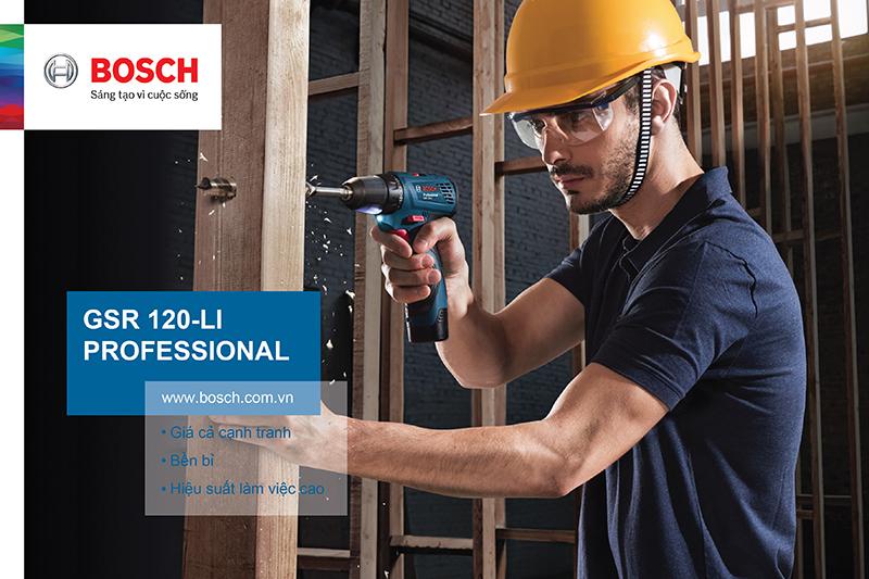 Bất ngờ với sự tiện dụng của máy khoan pin Bosch GSR 120-LI