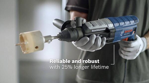 Chọn máy khoan búa Bosch GBH 2-28DV để khoan bê tông hiệu quả hơn