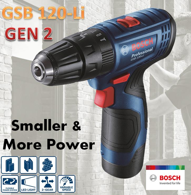 Máy khoan pin Bosch GSB 120-LI GEN II