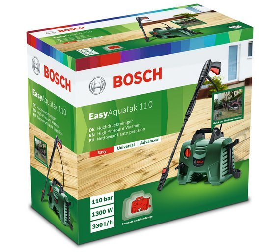 Thiết kế tiện lợi của máy xịt rửa cao áp Bosch Aquatak 110