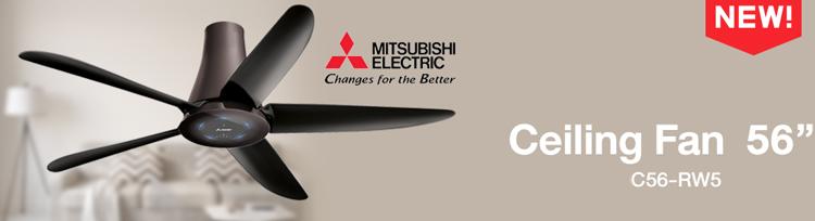 Quạt trần 5 cánh Mitsubishi C56-RW5