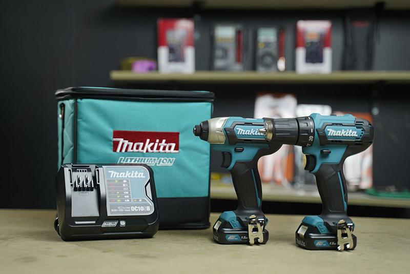 Bộ sản phẩm máy khoan vặn vít Makita CLX224S