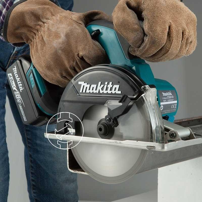 Máy cắt kim loại dùng pin Makita DCS551 18V