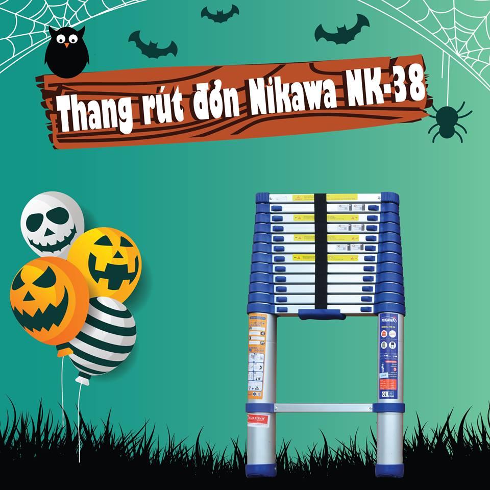 Hai mẫu thang nhôm rút gọn Nikawa bán chạy
