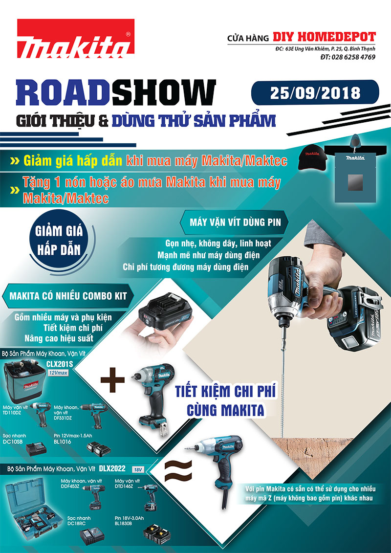 Tưng bừng tổ chức Roadshow Makita và DIYhomedepot Tp HCM