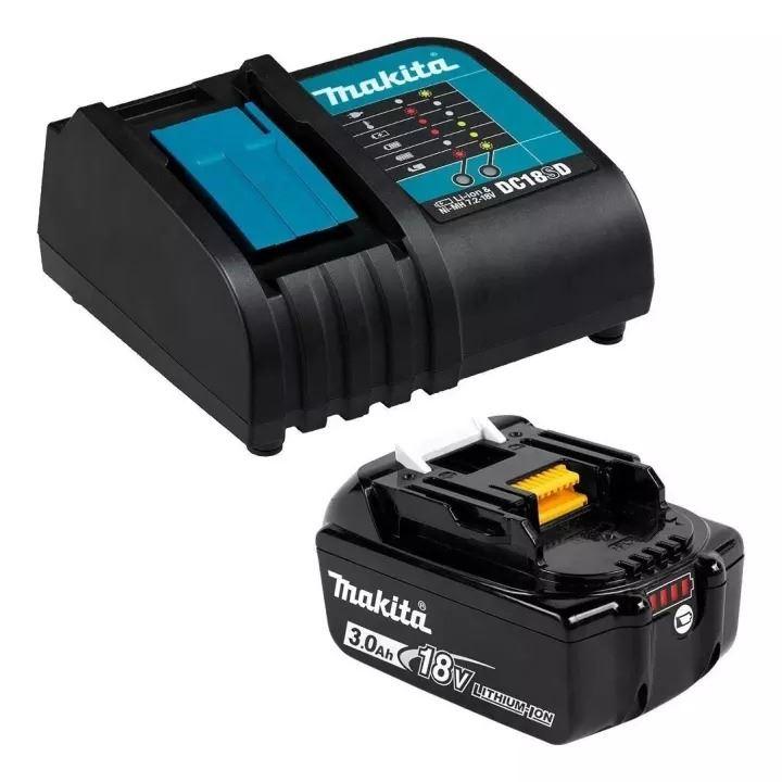 Bộ Pin Sạc Makita 18V 3.0Ah (BL1830B*1/DC18SD)