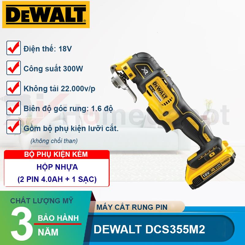 Máy cắt đa năng dùng pin Dewalt DCS355M2-KR