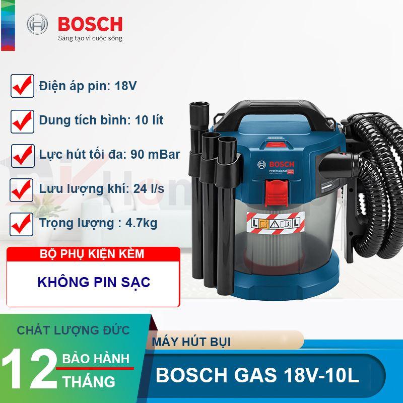 Máy hút bụi dùng pin Bosch GAS 18V-10L 18V
