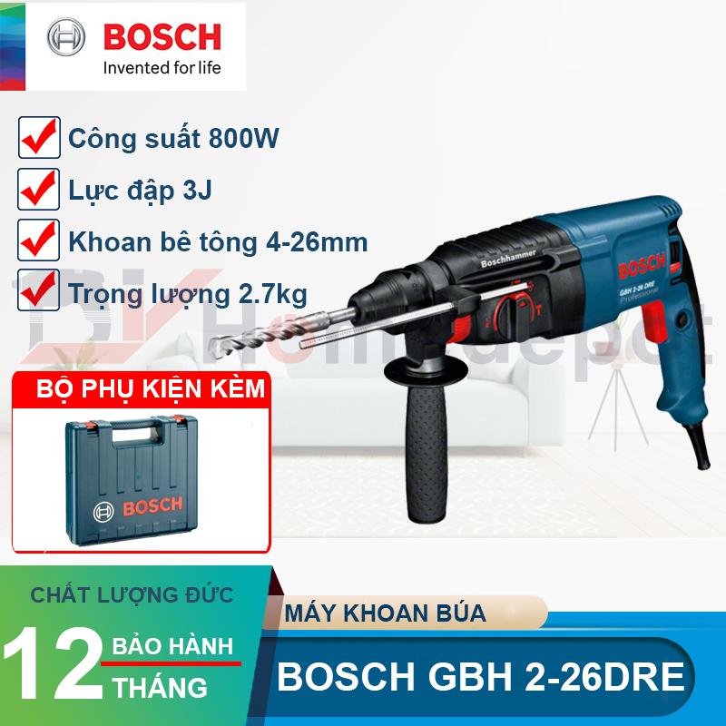 Máy khoan bê tông Bosch GBH 2-26 DRE 800W