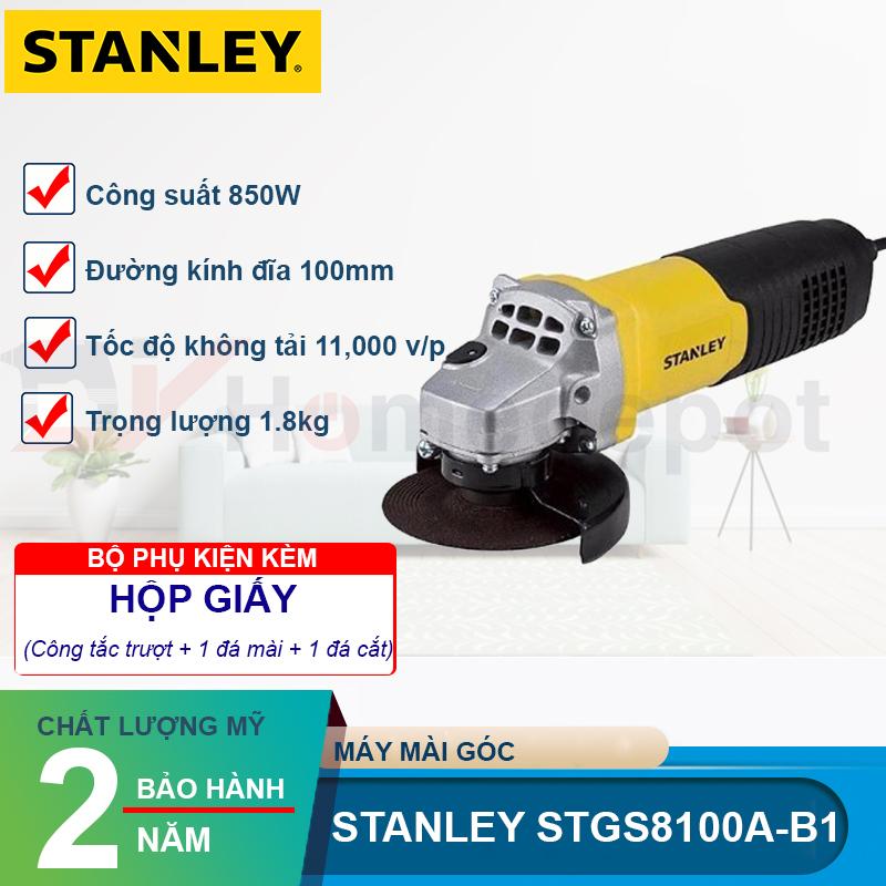 Kết quả hình ảnh cho Máy mài góc STANLEY STGS8100-B1 công tắc trượt