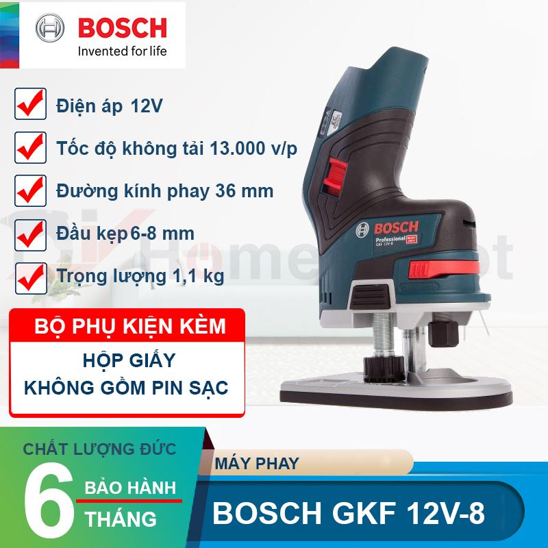 Máy phay dùng pin Bosch GKF 12V-8 (Solo)