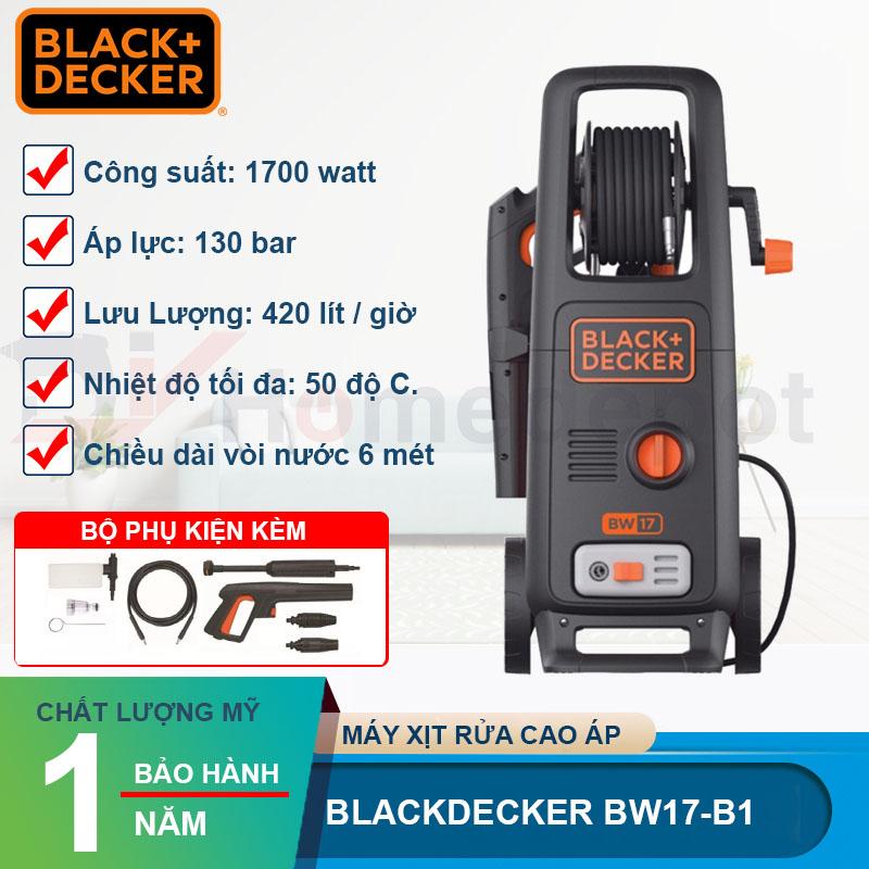 Máy xịt rửa cao áp Black&Decker BW17-B1