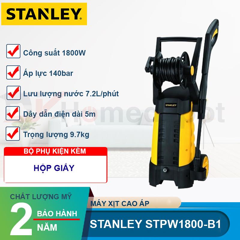 Máy xịt rửa cao áp Stanley STPW 1800