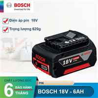 Pin Bosch lion 18V-6Ah 1600A004ZN