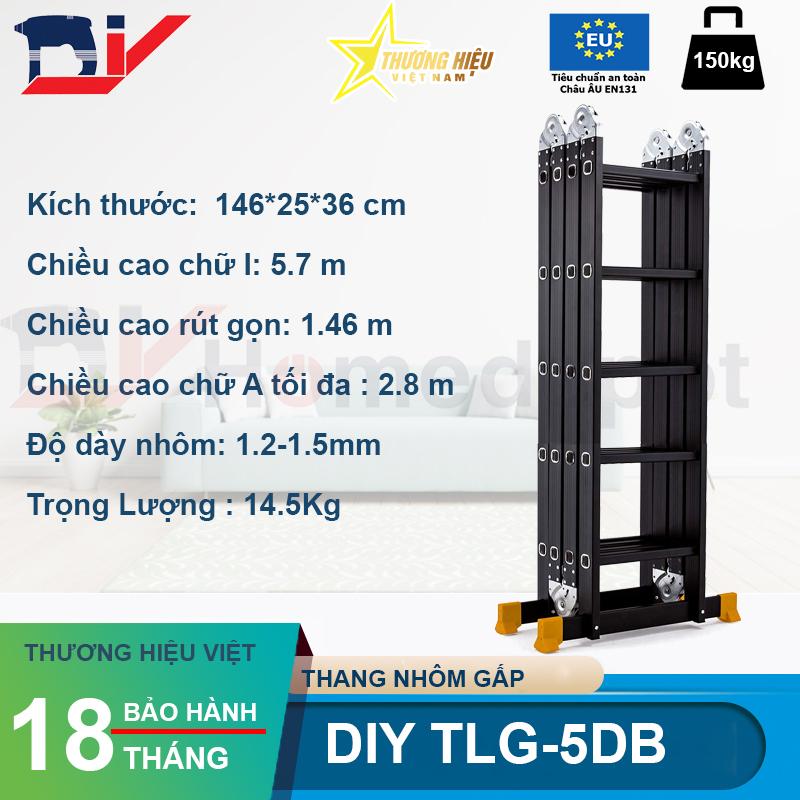 Thang nhôm bốn đoạn DIY TLG-5DB