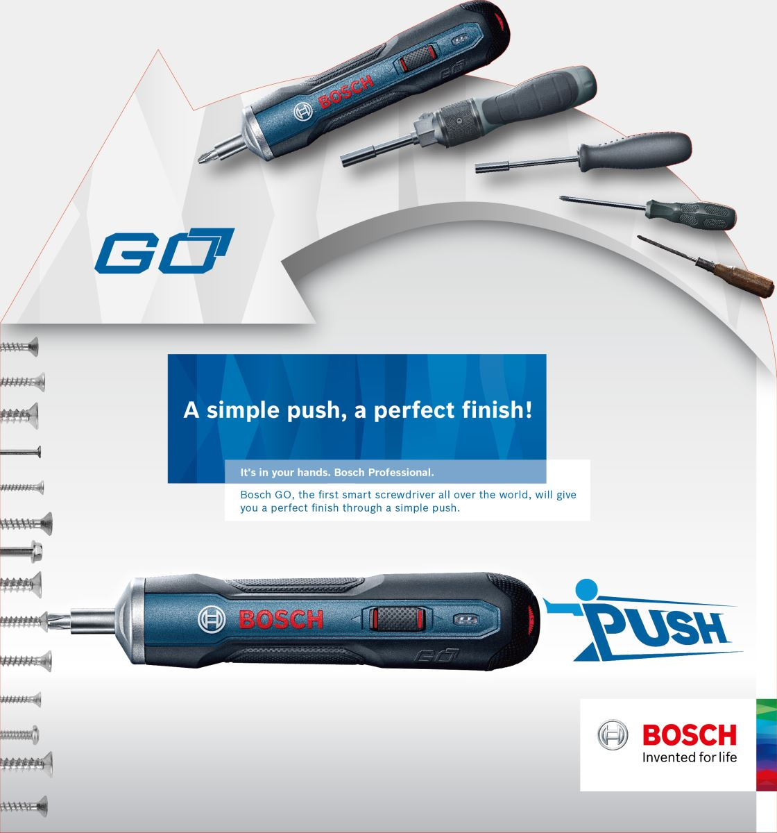 Bộ máy bắt vít dùng pin Bosch go (Solo)