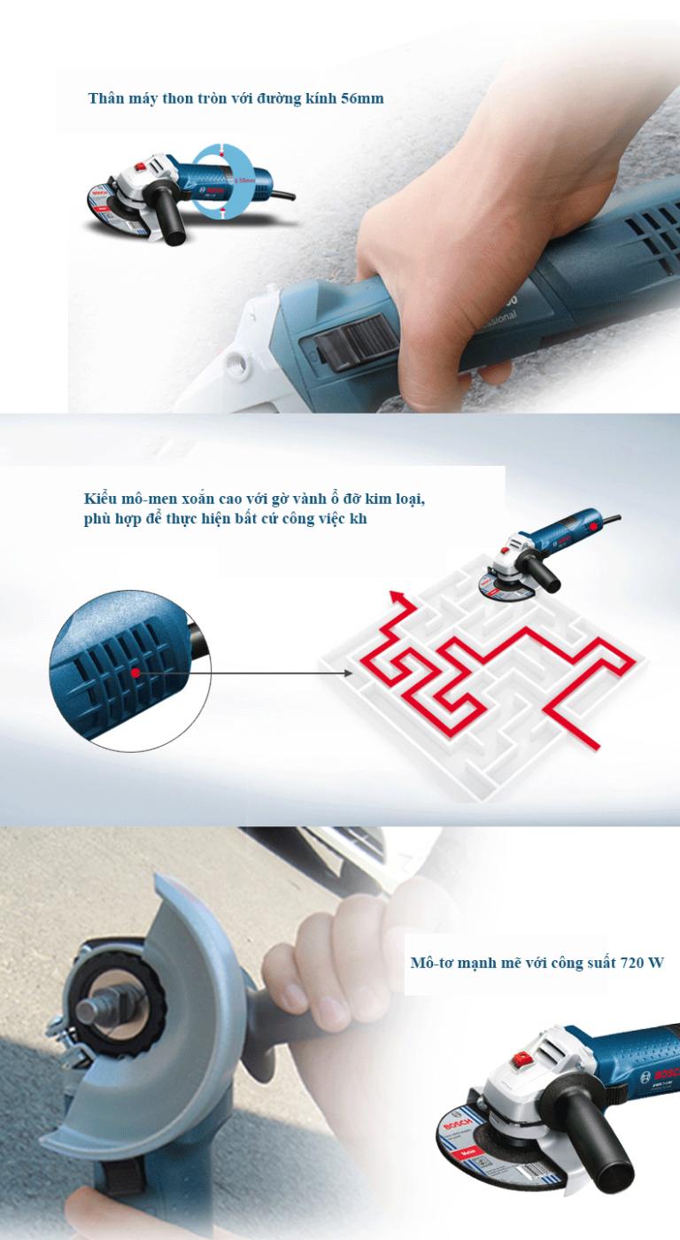 máy mài góc cầm tay Bosch GWS 7-100 ET