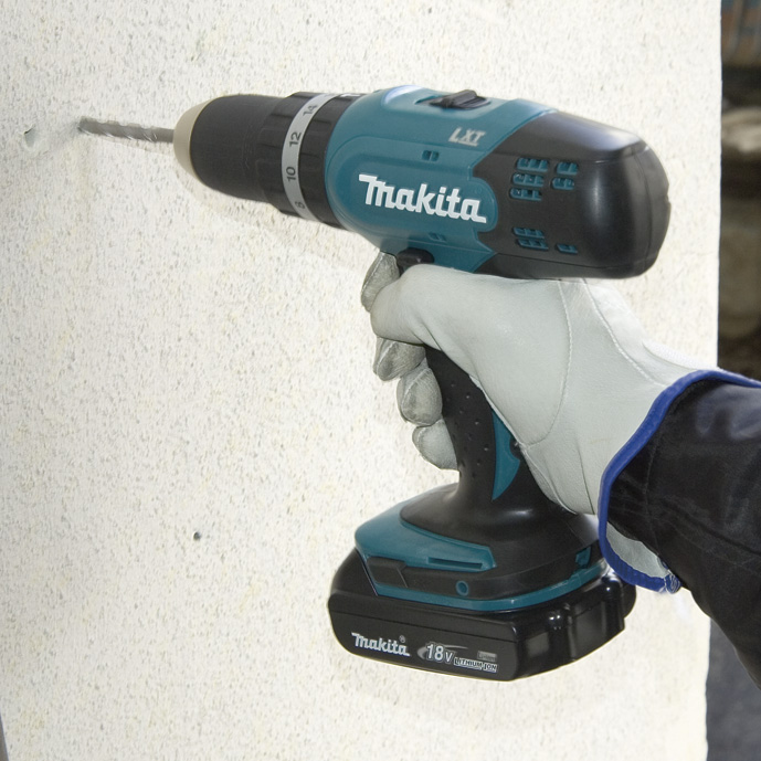 Máy khoan búa vặn vít dùng Pin Makita DHP453SYE/DHP453SF/DHP453Z