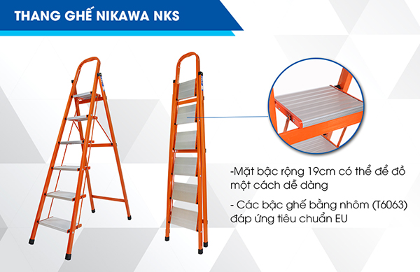 Thang ghế 6 bậc Nikawa NKS-06