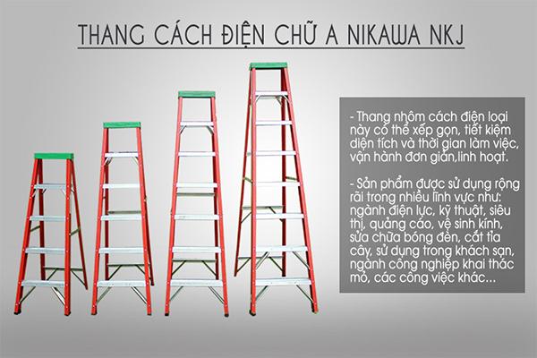 Thang cách điện chữ A Nikawa NKJ-6C