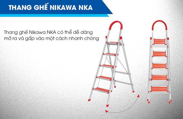 Mẫu thang nhôm Nikawa đáng mua nhất 2018 - Thang nhôm NKA-03
