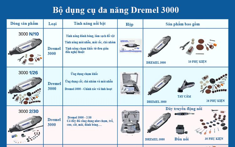 Bộ dụng cụ đa năng giá rẻ đáng mua nhất - Dremel 3000 3/55 Silver kit