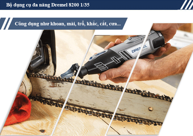 Bộ dụng cụ sửa chữa đa năng tiện ích Dremel 8200 1/35 có tính năng gì?